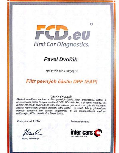 Filtry pevných částic - DPF -FAP