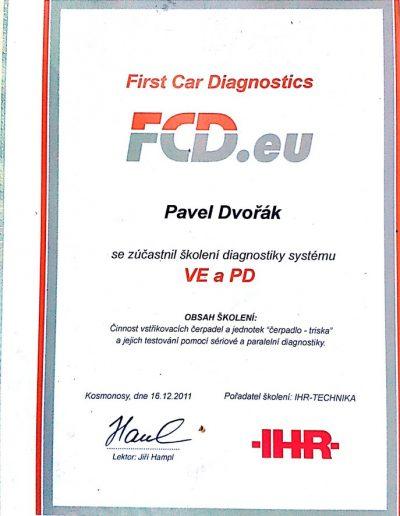 Vstřikovací čerpadla VE a PD - diagnostika